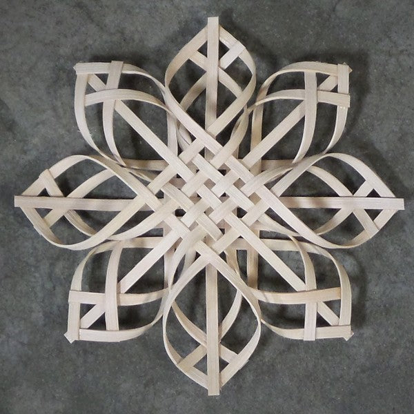 Intricate Wooden Snowflake Ornament
