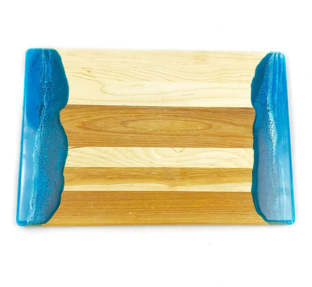 Blue Resin Dipped Serving Board