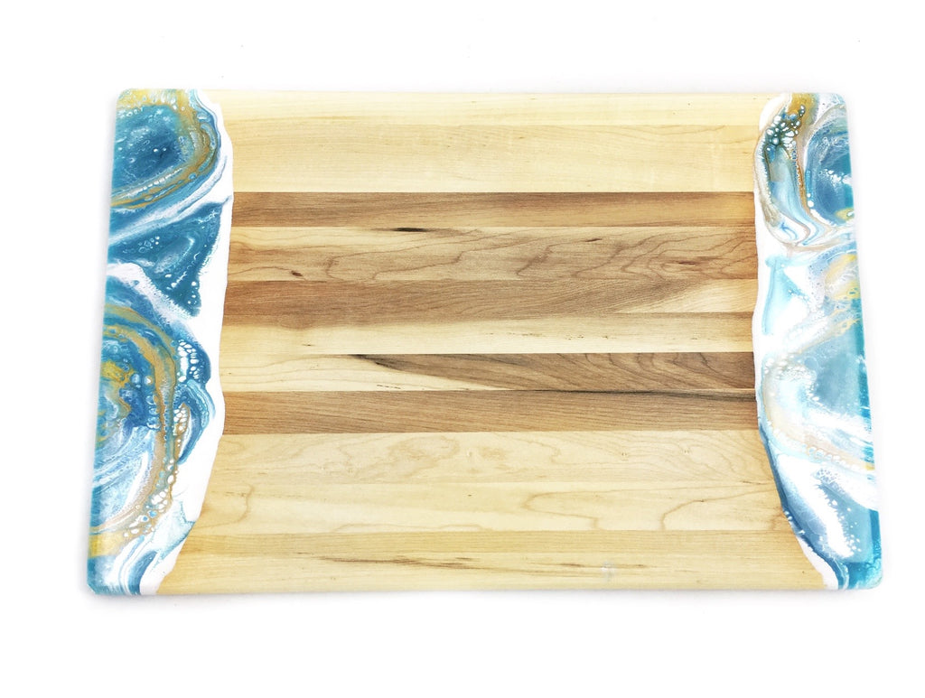 Aqua Resin Dipped Serving Board