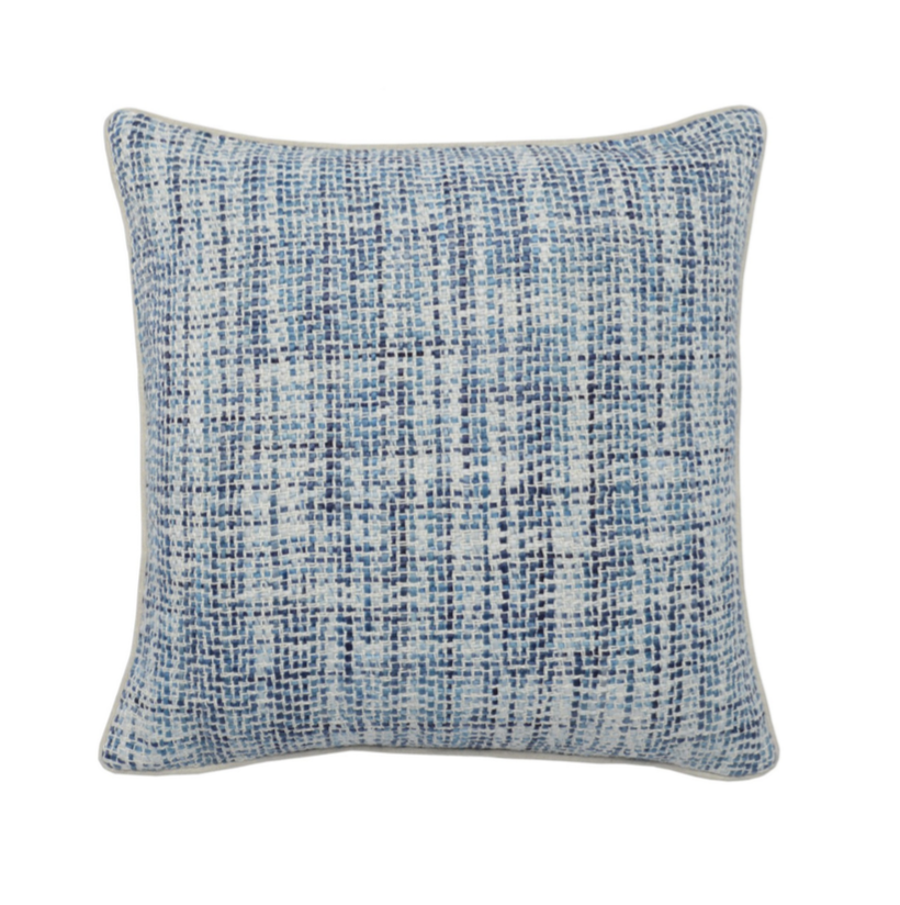 Blue Basketweave Pillow
