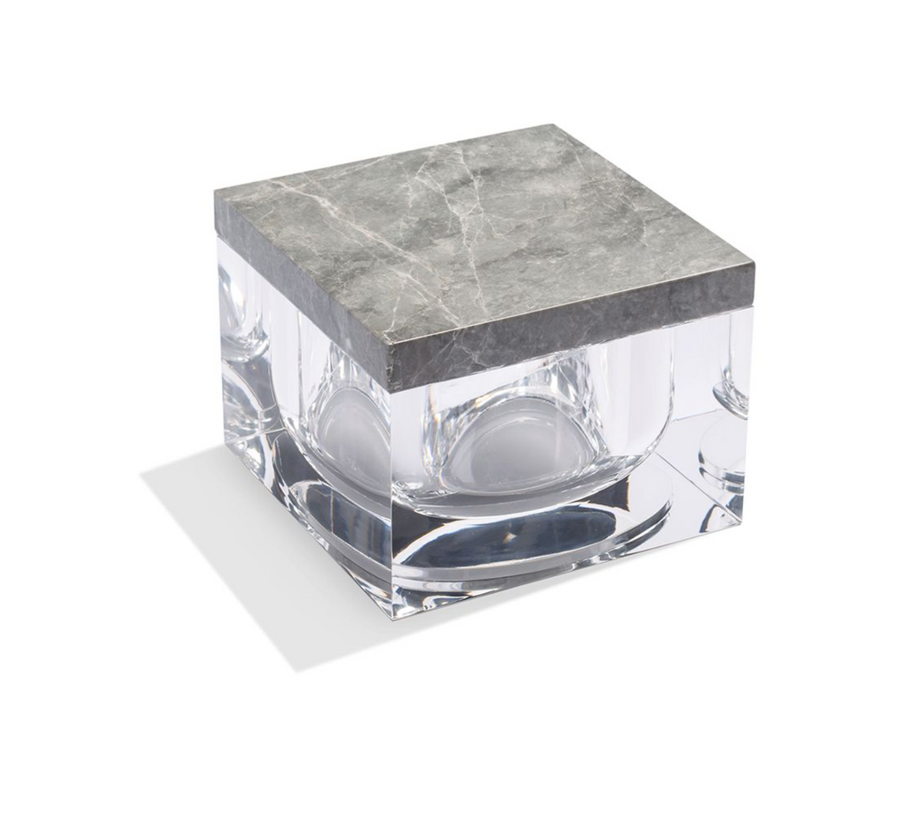 Lucite & Marble Box
