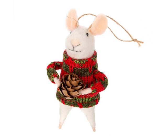 Pinecone Mouse Ornament