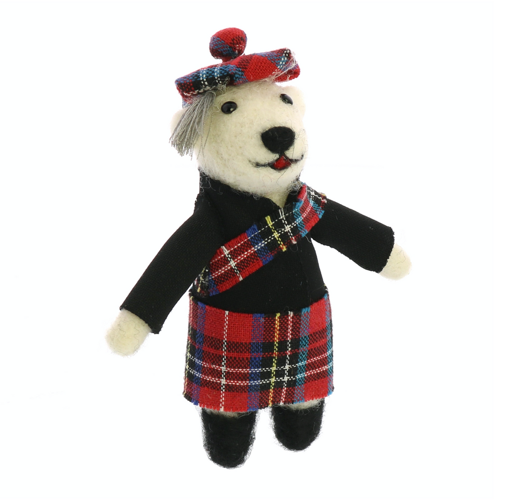 Scottish Bear Ornament