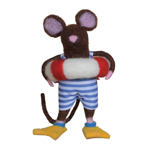 Swimmer Mouse Ornament