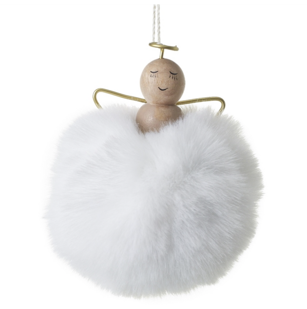 Pom Pom Angel Ornament