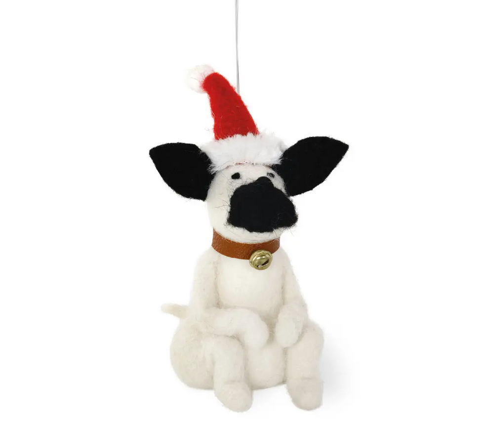 Santa Pooch Ornament