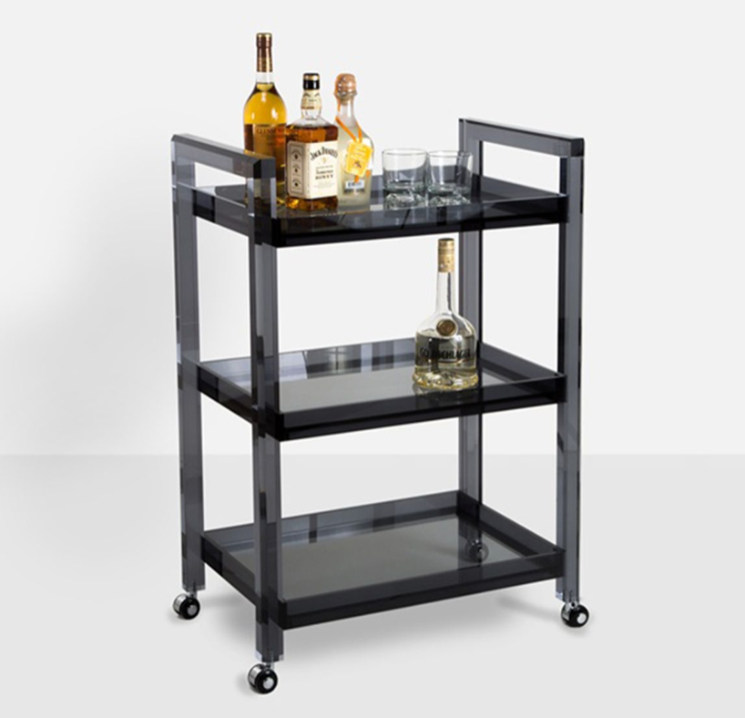 Grey Bar Cart