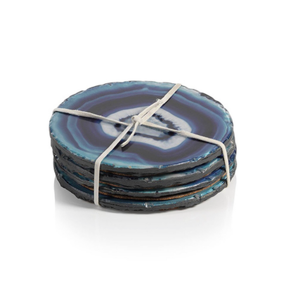 Faux Blue Agate Coasters