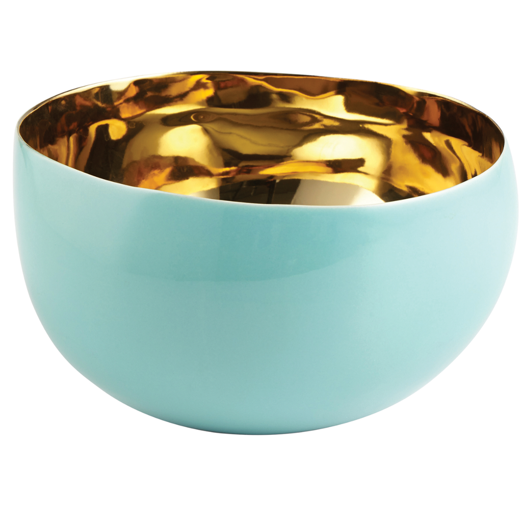 Large Turquoise & Gold Bowl