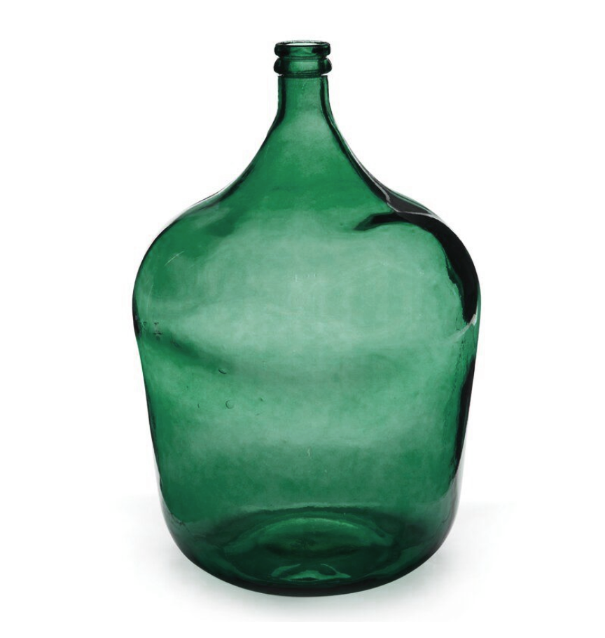 Large Recycled Glass European Jug