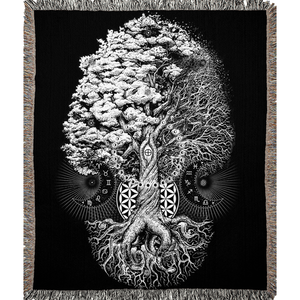 Open image in slideshow, Tree of Life Woven Blanket