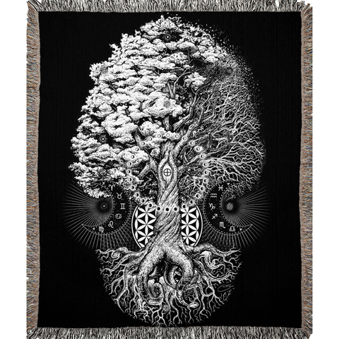 Tree of Life Woven Blanket