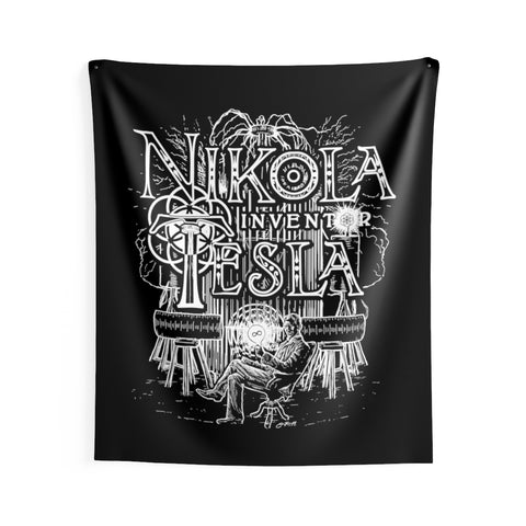 'Nikola Tesla' Indoor Wall Tapestry