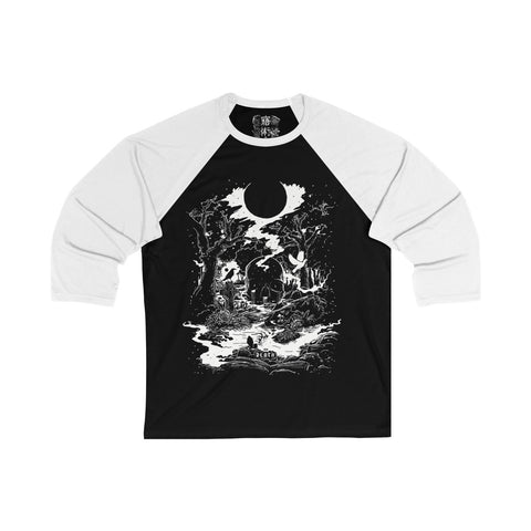 'DEATH' Tarot Card Unisex 3/4 Sleeve Tee