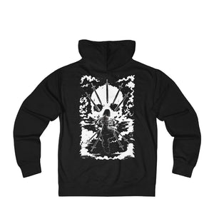 Open image in slideshow, 'NINE OF PENTACLES' Shadow Light Tarot Card art on Unisex French Terry Zip Hoodie