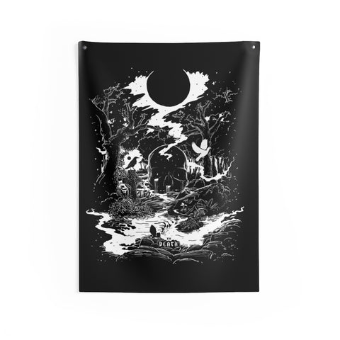 'Death Tarot Card' Indoor Wall Tapestry