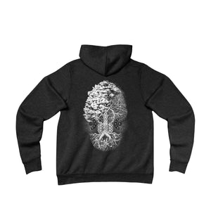 'Cosmic Crystal/Tree of Life' Unisex Fleece Pullover Hoodie