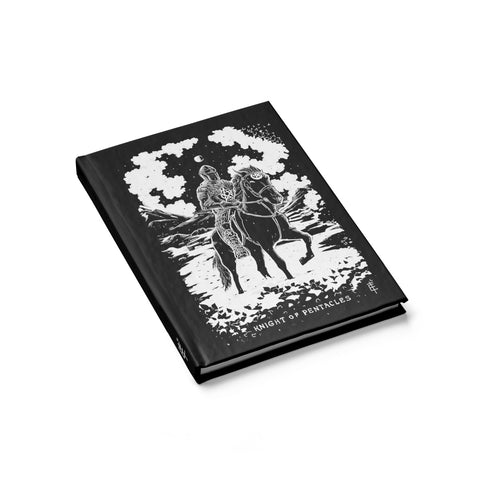 'Knight of Pentacles' Shadow Light Tarot Card Hardcover Sketch Book