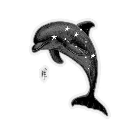 Delphinus 'The Dolphin' Constellation - Star Art Kiss-Cut Sticker