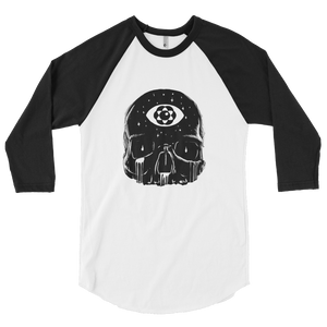 Open image in slideshow, 'THIRD EYE SKULL'  3/4 sleeve raglan shirt