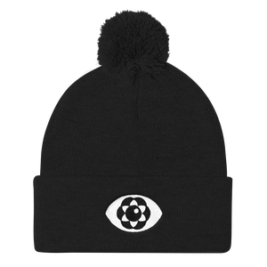 "THIRD EYE 12"" Pom Pom Knit Beanie by Waking Canvas"