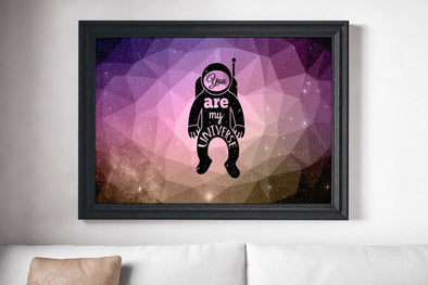 Spaceman Painting Poster Art Print Canvas Print