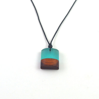 wood resin pendent