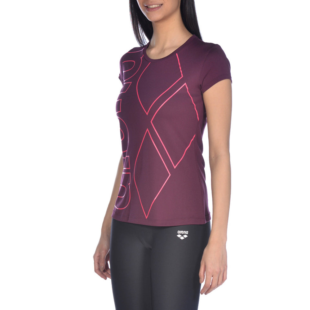 ARENA Woman T-Shirt Short Sleeve GYM LOGO 000937