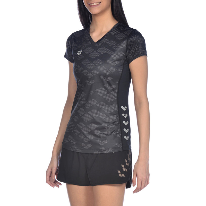 ARENA Woman T-Shirt Short Sleeve RUN MESH SOLID  001541