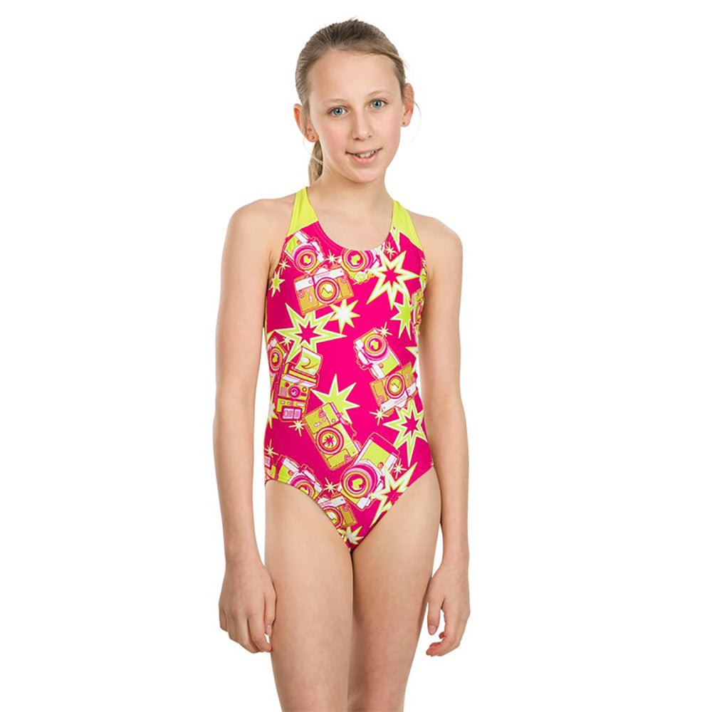 SPEEDO Girl One Piece FLASHFLY ENDURANCE ALLOVER SPLASHBACK 07386