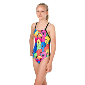 SPEEDO Girl One Piece PARROTBIRDS PLACEMENT DIGITAL CROSSBACK 10839