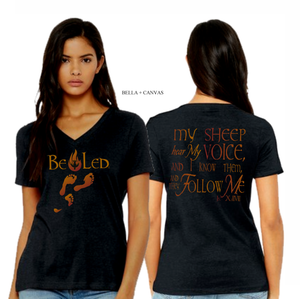 LADIES BE LED VNECK TEE