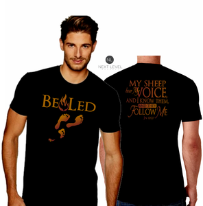 MENS BE LED SUEDED CREW TEE