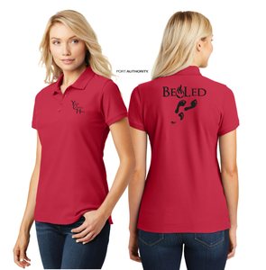 LADIES BE LED PIQUE POLO