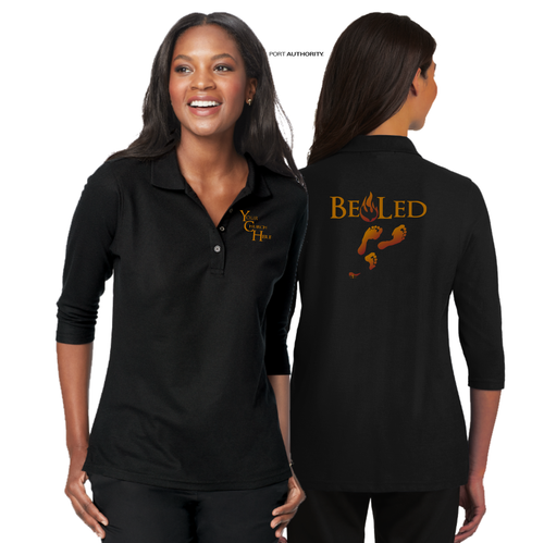 LADIES BE LED 3/4 SLEEVE SILK TOUCH POLO
