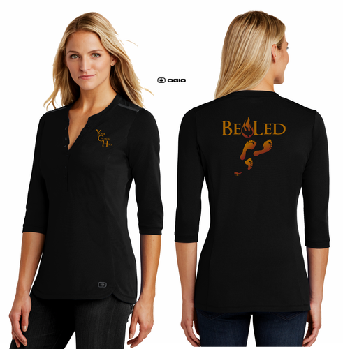 LADIES BE LED HENLEY TEE