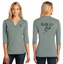 Load image into Gallery viewer, LADIES BE LED HENLEY TEE