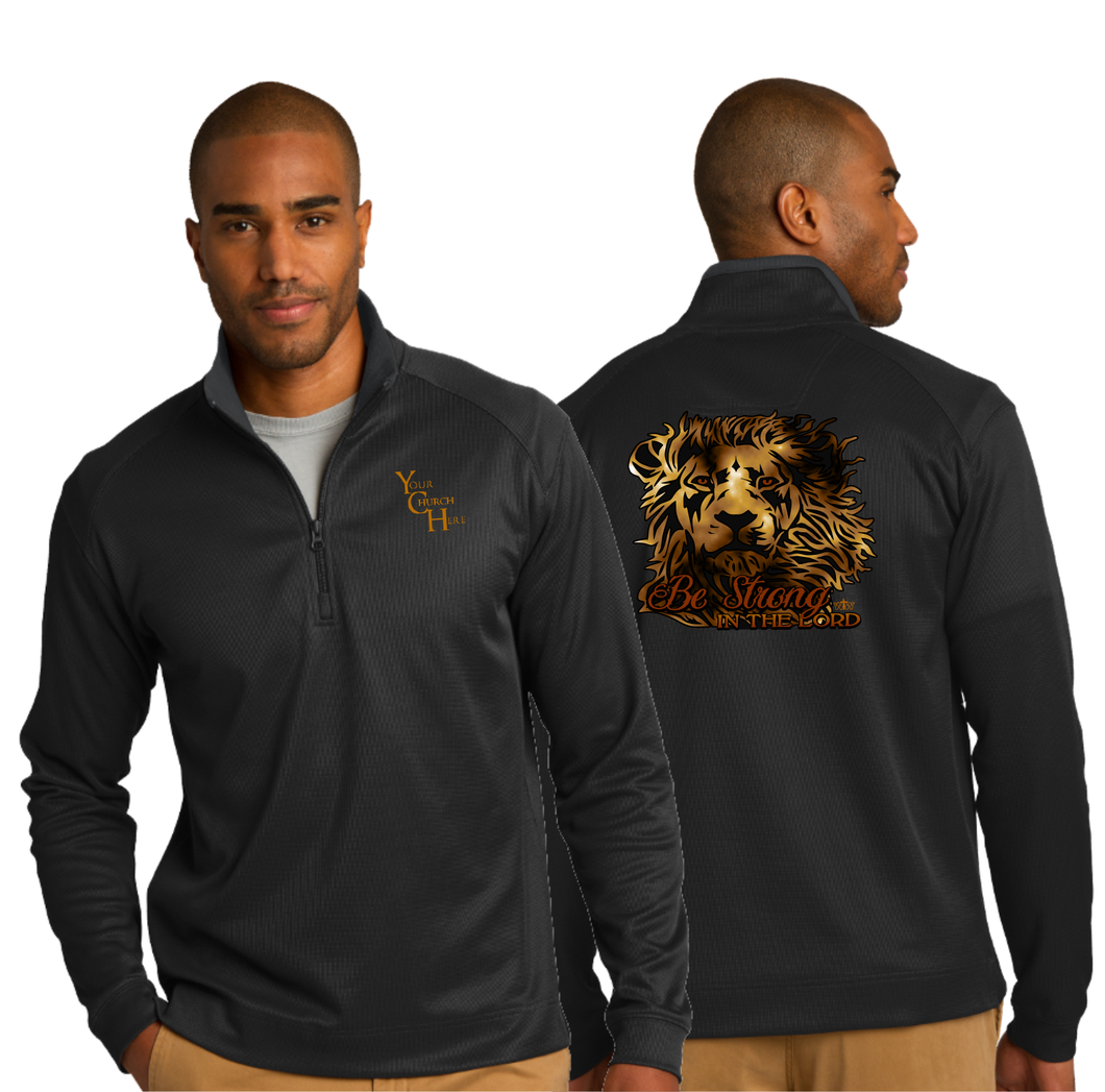 ADULT BE STRONG 1/4 ZIP PULLOVER