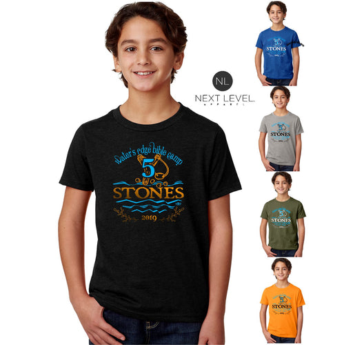 KIDS & ADULT CAMP FIVE STONES TEE