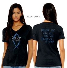 Load image into Gallery viewer, LADIES FISHER of MEN VNECK TEE