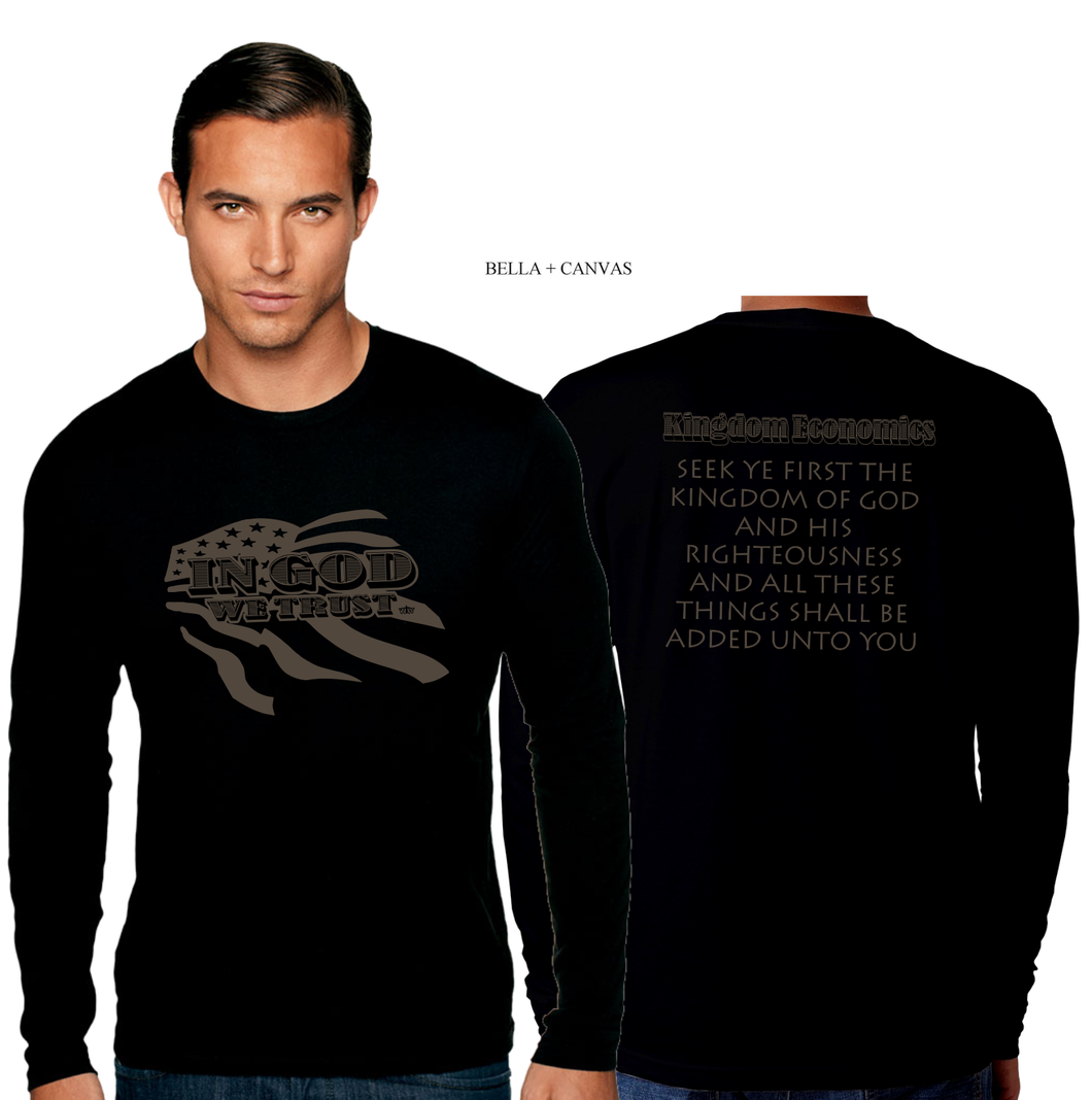 ADULT IN GOD WE TRUST LONG SLEEVE TEE