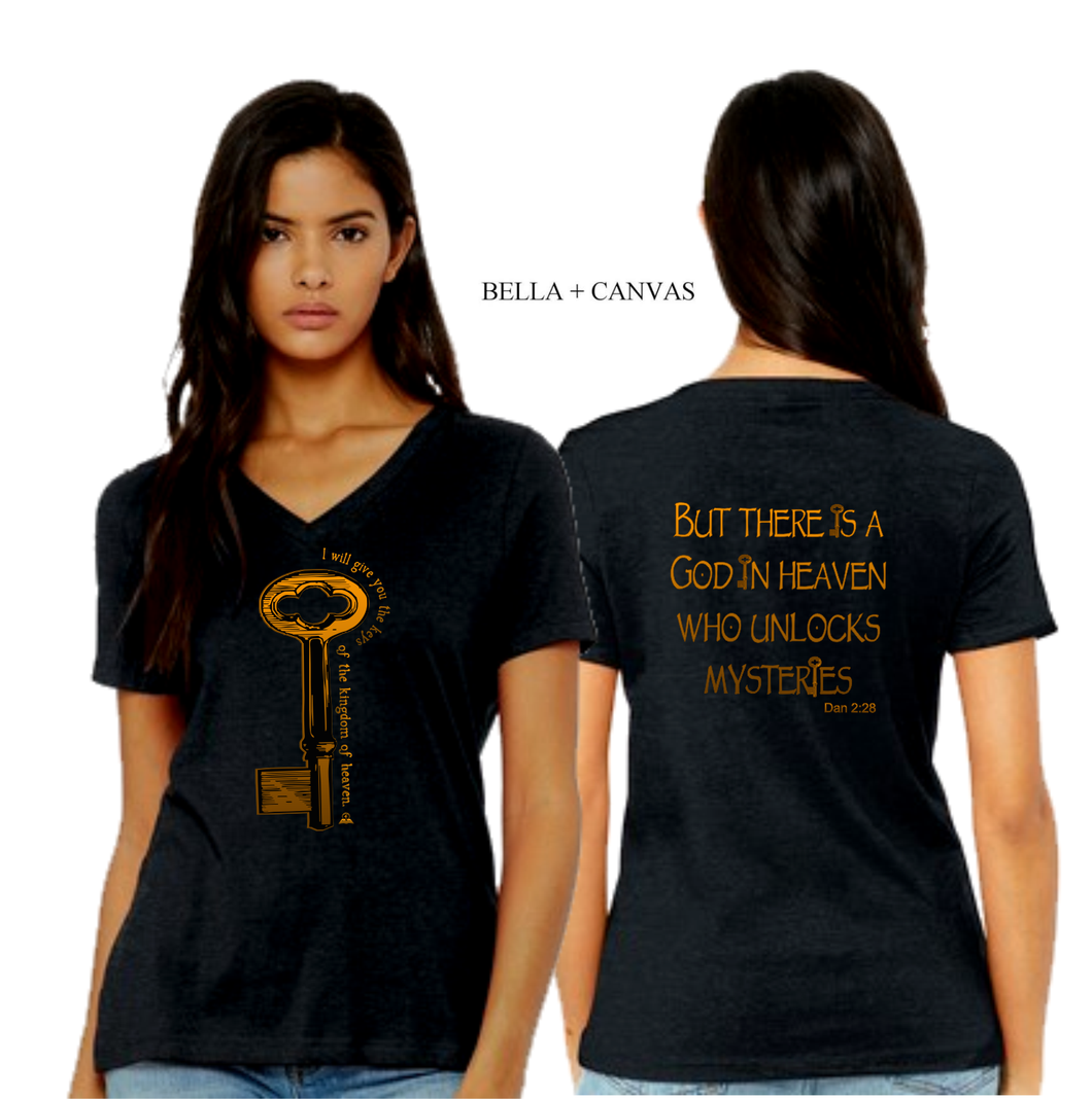 LADIES KEYS TO the KINGDOM VNECK TEE