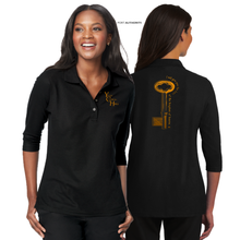 Load image into Gallery viewer, LADIES KEYS TO the KINGDOM 3/4 SLEEVE SILK TOUCH POLO