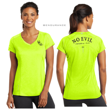 Load image into Gallery viewer, LADIES NO EVIL OGIO VNECK TEE