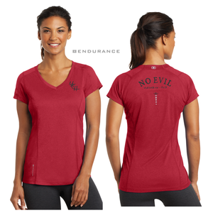 LADIES NO EVIL OGIO VNECK TEE