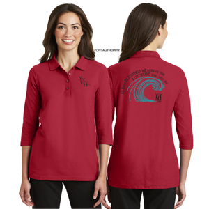 LADIES The BLESSING 3/4 SLEEVE SILK TOUCH POLO