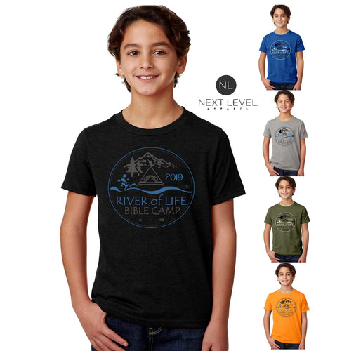KIDS & ADULT CAMP RIVER TEE
