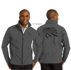 ADULT IN GOD WE TRUST SOFT SHELL JACKET
