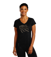 Load image into Gallery viewer, LADIES IN GOD WE TRUST OGIO VNECK TEE