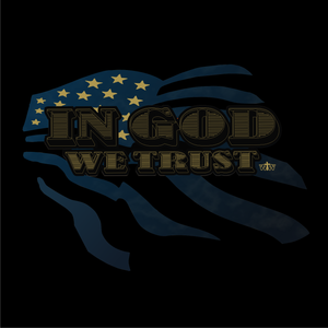 LADIES IN GOD WE TRUST VNECK TEE